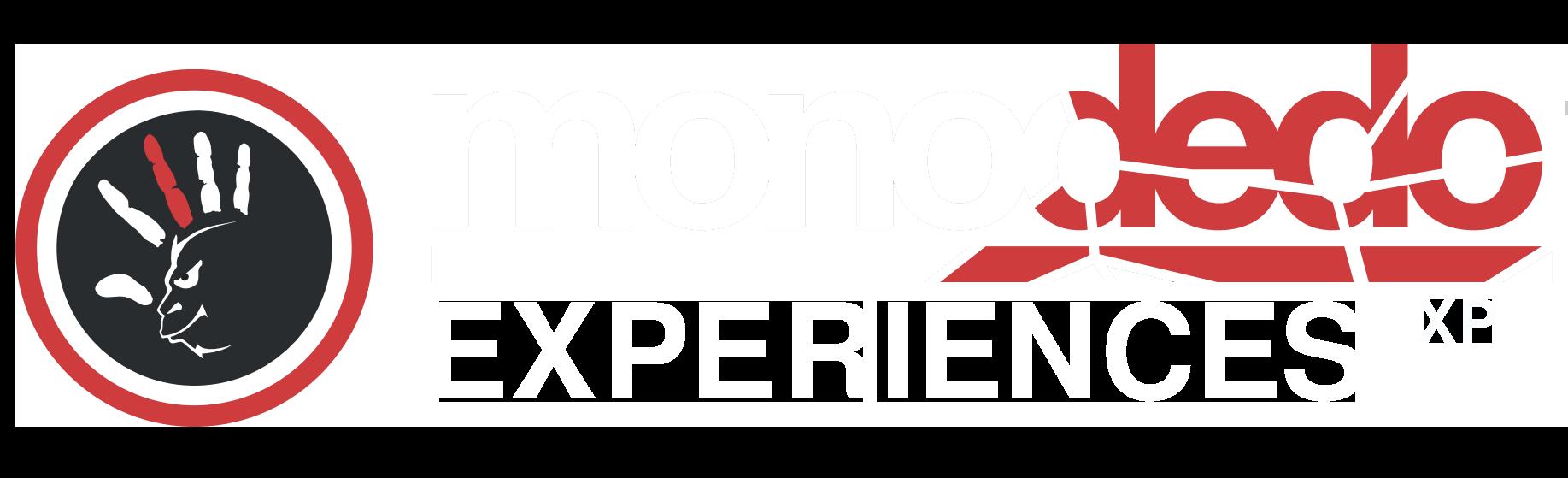 Monodedo experiences logo white