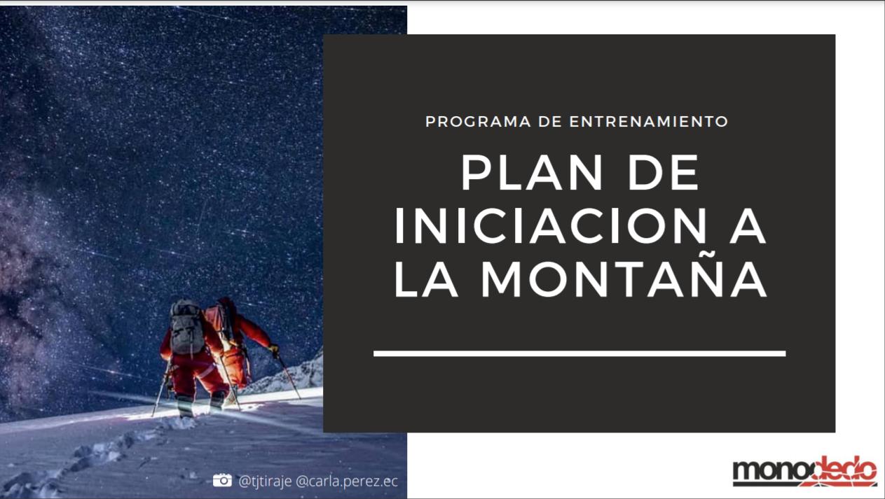 Plan de iniciación montaña